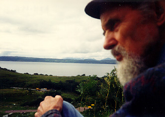 photo - Jon looking out over the Sound of Sleat